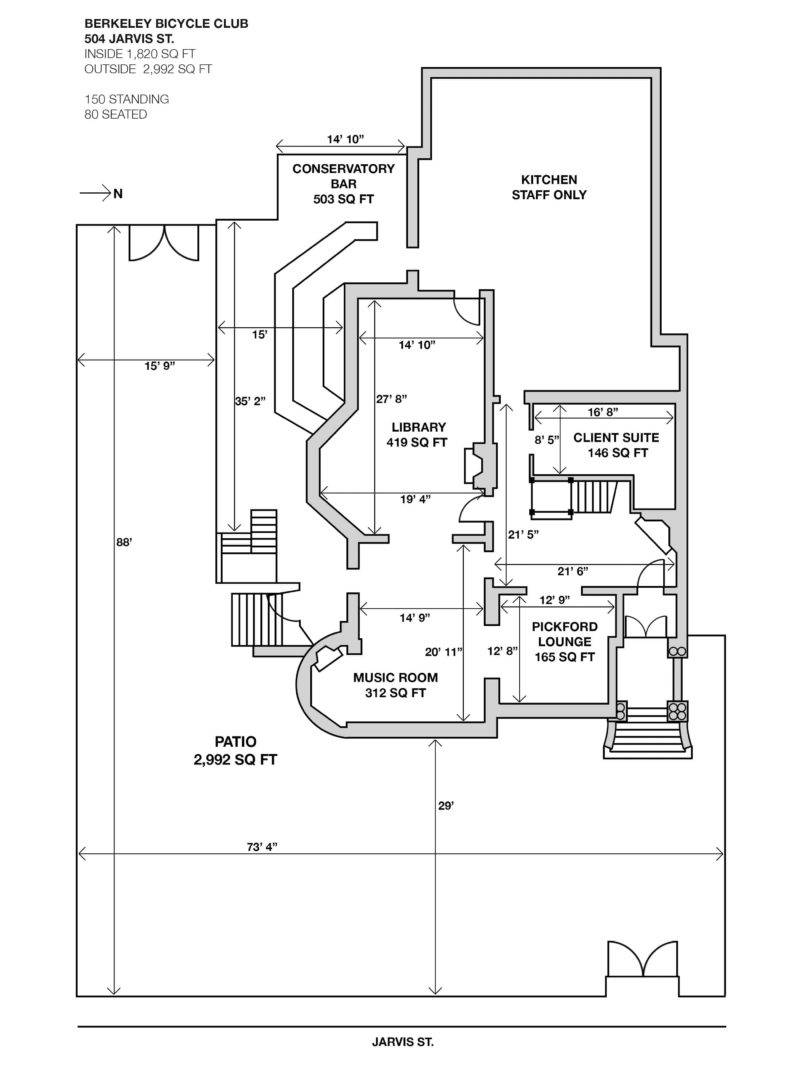 Berkeley Bicycle Club Floor Plan