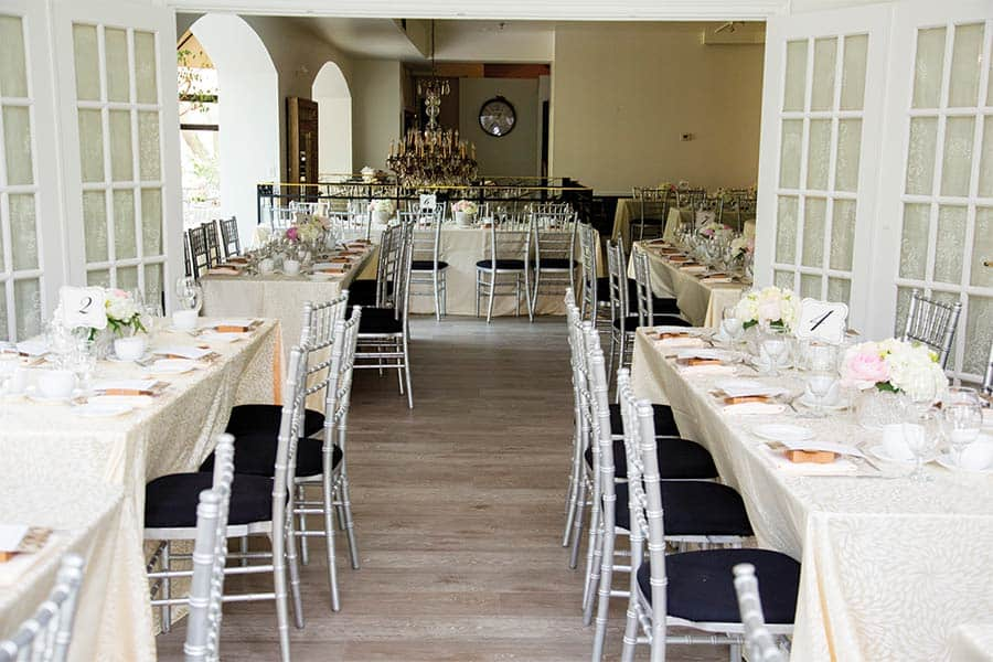 La Maquette venue upstairs with tables set and no guests