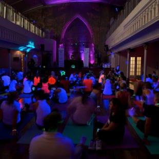 Glow in the Dark Yoga '1871' Berkeley Bicycle Club