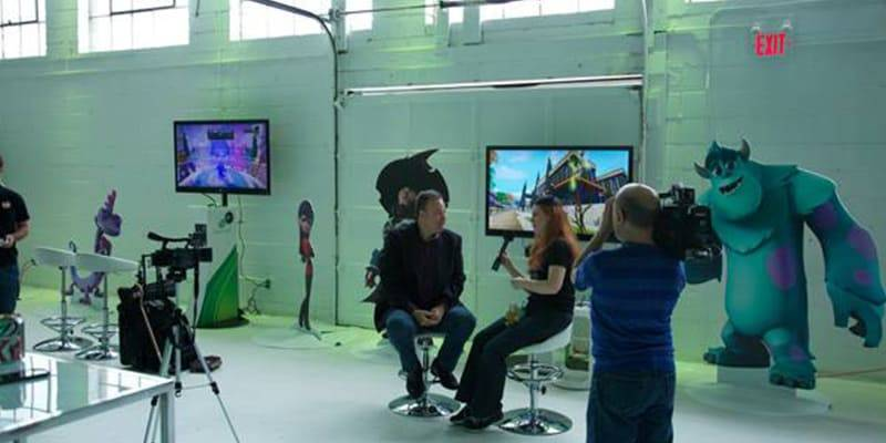 Disney interview happening in the Hangar at Airship37