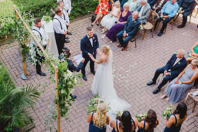 Outdoor wedding ceremony historic toronto venue