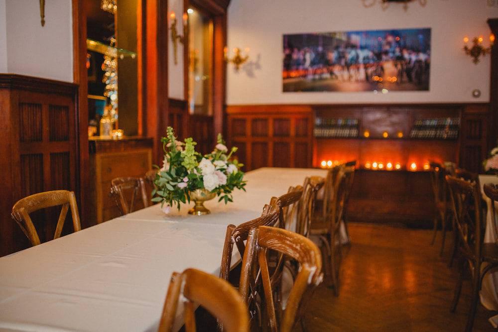 Cute wedding reception set up