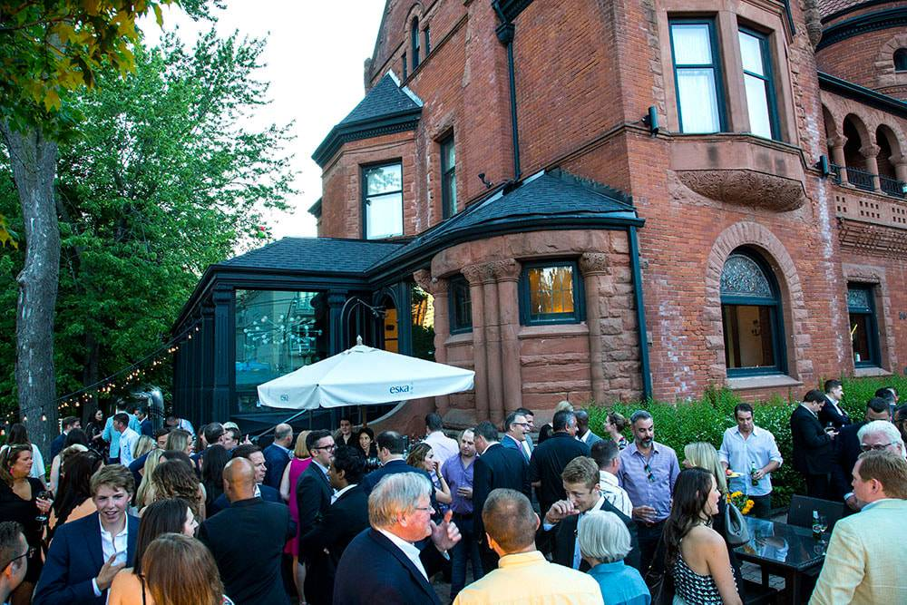 Outdoor corporate patio event at Berkeley Bicycle Club