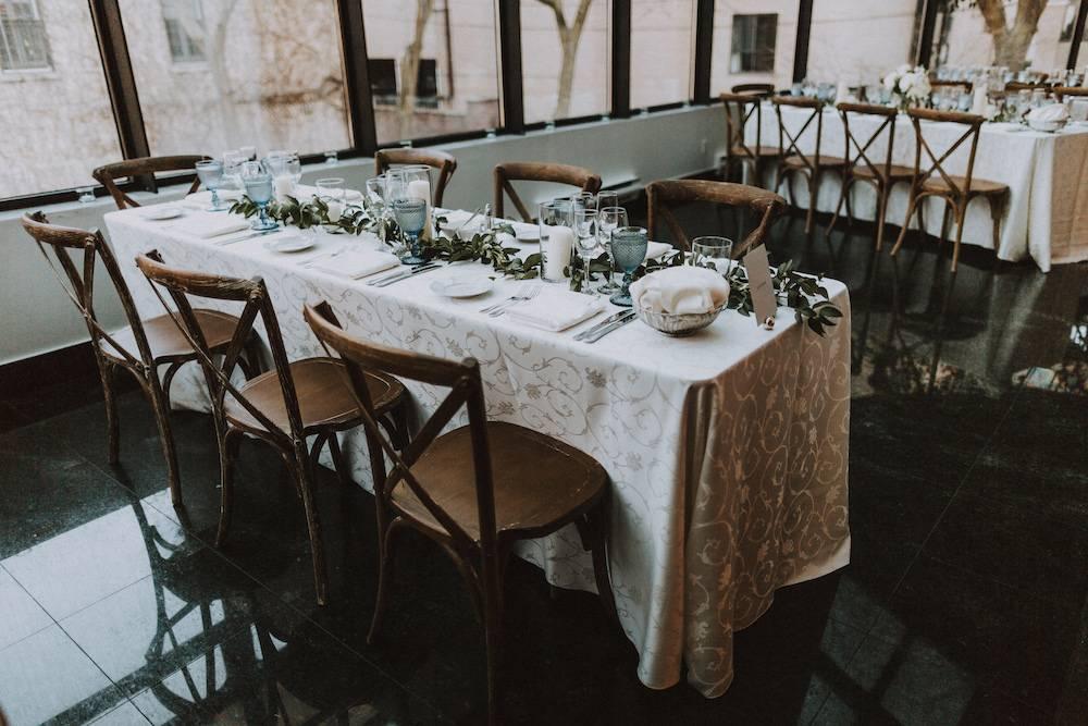 Wedding reception table display