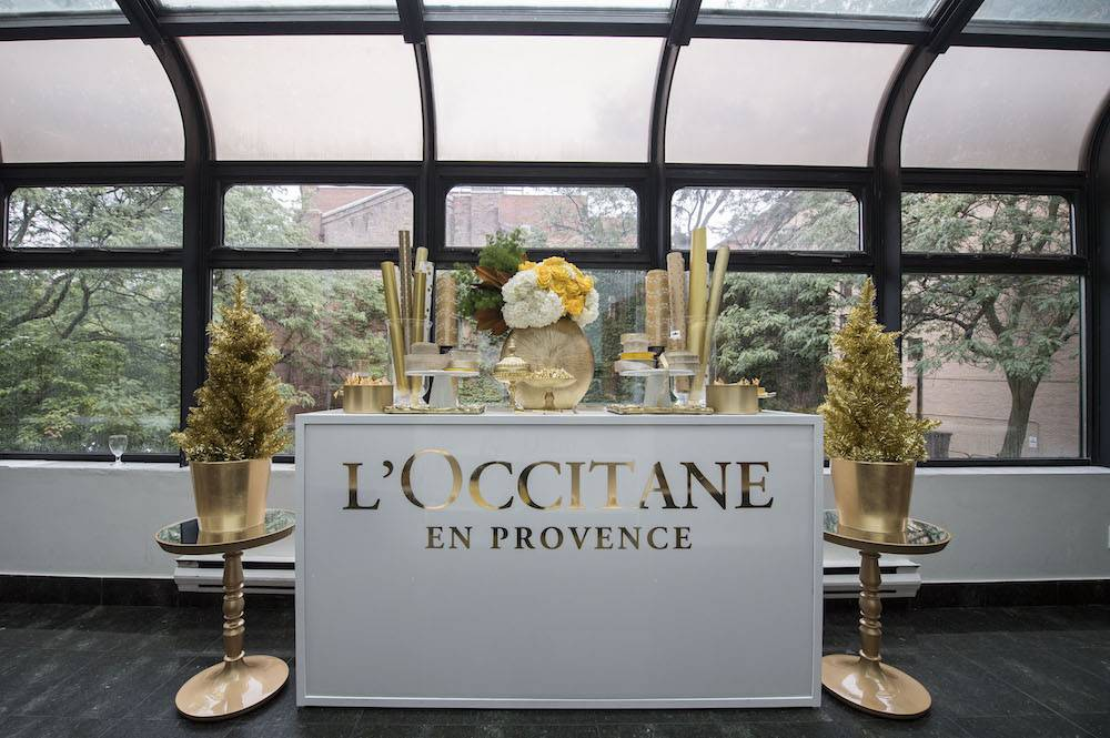 L'Occitane media event display