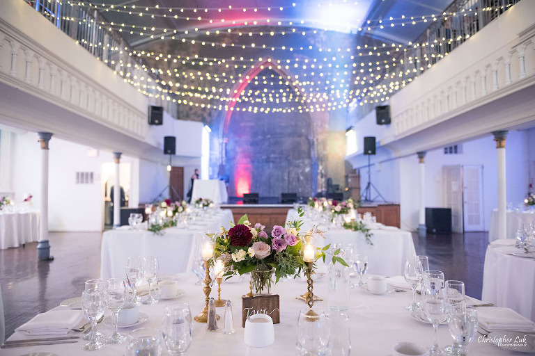 wedding venue toronto with string lights