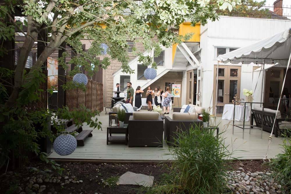 Backyard outdoor party
