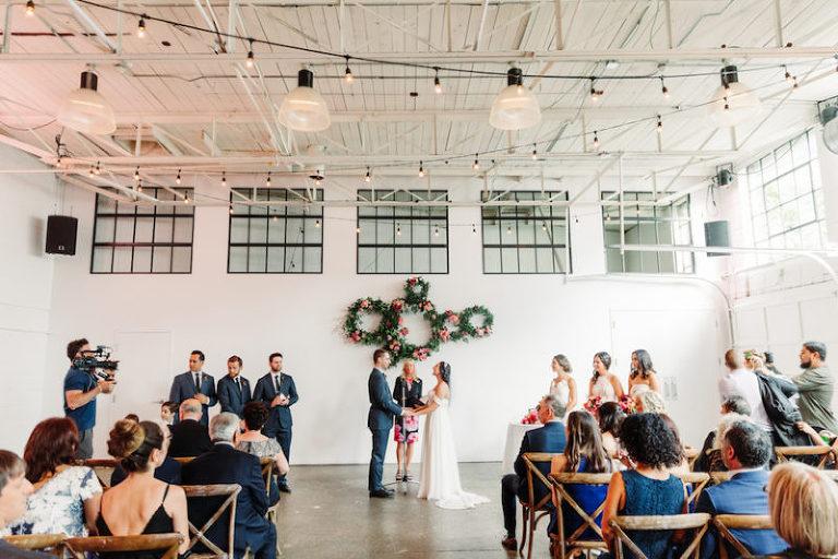 Bright wedding ceremony at Toronto venue