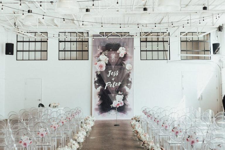 Modern wedding at downtown-Toronto venue