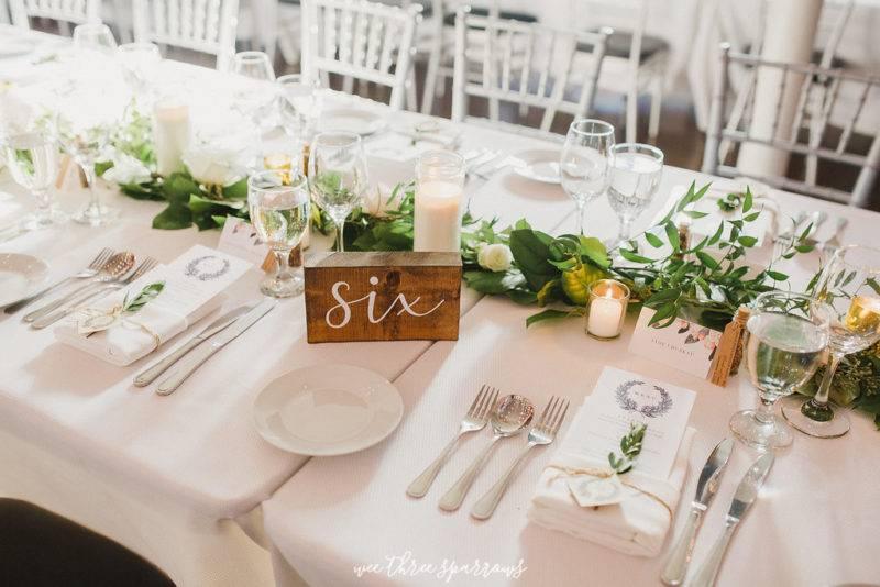 Simple wedding reception set up at the Berkeley Church downtown Toronto
