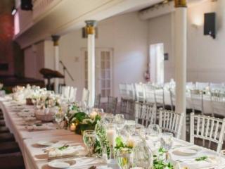 Berkeley church toronto wedding reception decor and set up