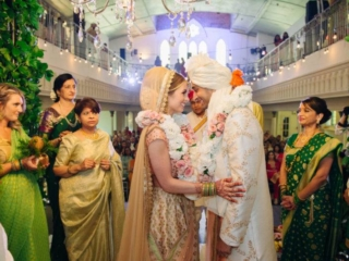 ethnic hindu wedding ceremony at the berkeley church toronto