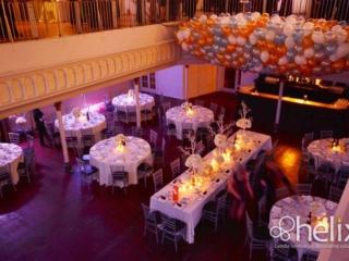 Balloon wedding reception decor at the berkeley church toronto