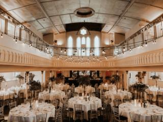 Rustic wedding reception at the berkeley church toronto