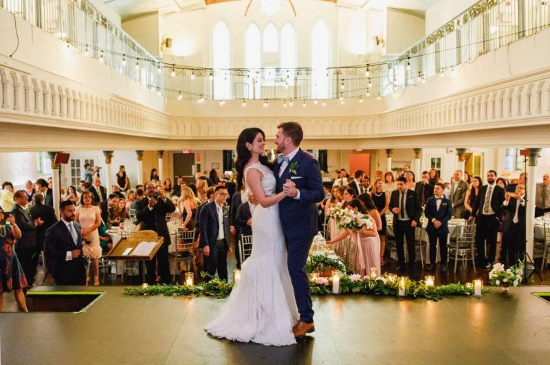 Bride and groom first dance at Berkeley Church Toronto