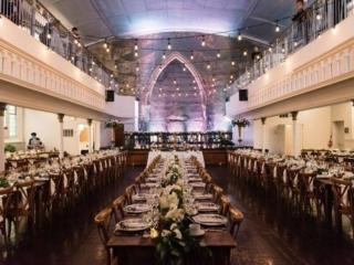 Simple rustic wedding reception at the Berkeley Church Toronto