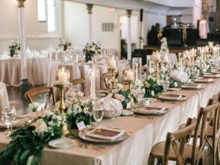 Berkeley Church Toronto wedding reception decor