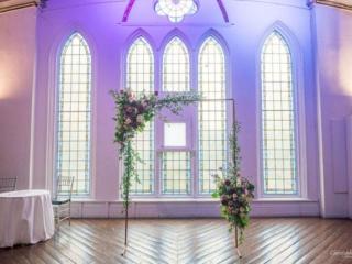 Simple wedding ceremony arch at the berkeley church toronto