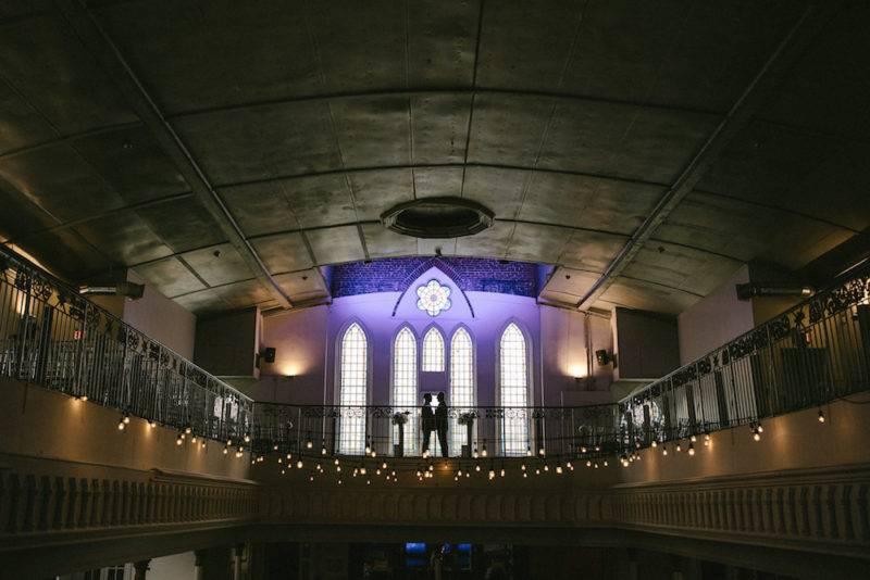 Same sex male wedding ceremony at the berkeley church Toronto
