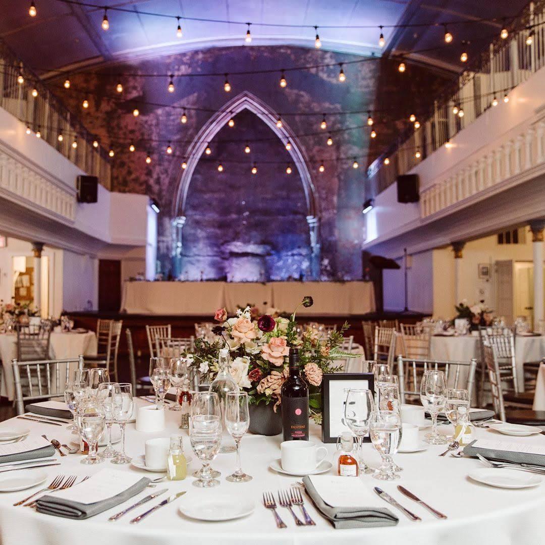 downtown toronto wedding reception space berkeley church