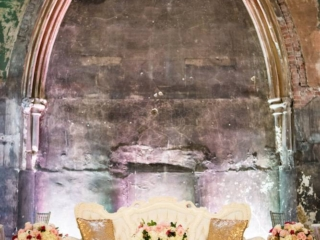 Pink and white elegant floral wedding ceremony at the berkeley chuch toronto