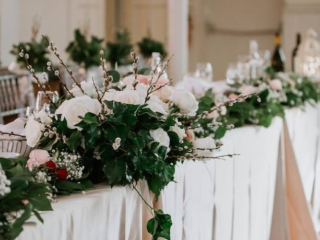 Lush florals wedding decor at Berkeley Church Toronto