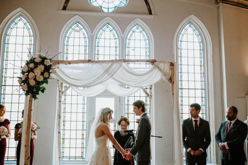 Grand wedding ceremony at Berkeley Church downtown toronto