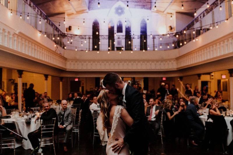 Toronto bride and groom first dance at berkeley church