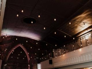 Magical twinkle lights wedding reception at the berkeley church toronto
