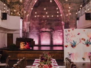 Bright peruvian wedding reception at the historic berkeley church toronto