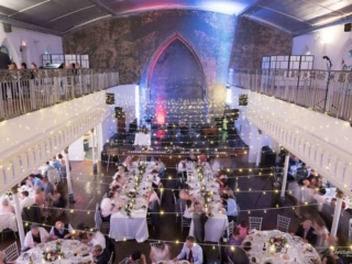 twinkle lights simple wedding reception at the berkeley church toronto