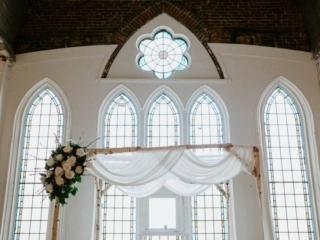 Cute wedding ceremony set up at Berkeley Church Toronto